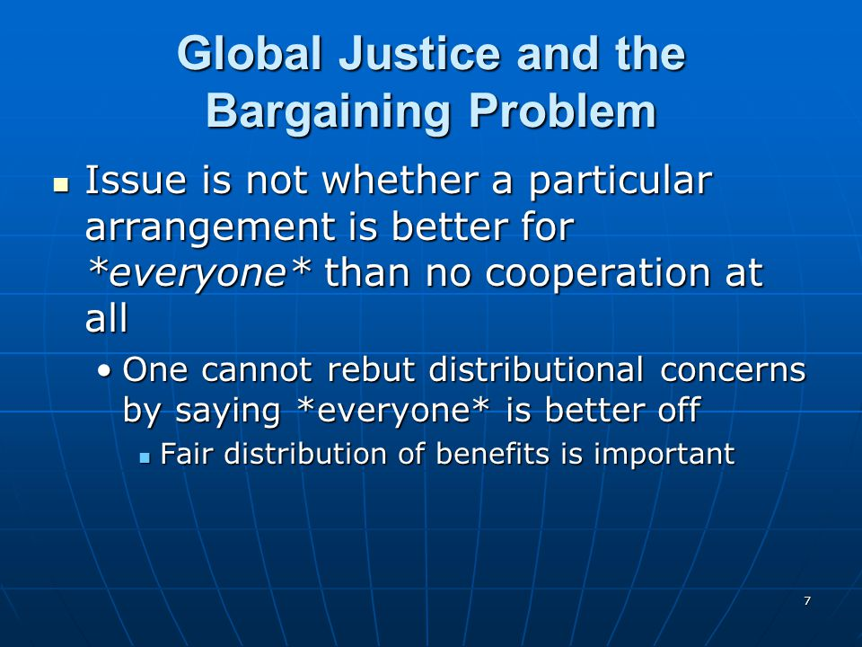 Global Justice and the Bargaining Problem