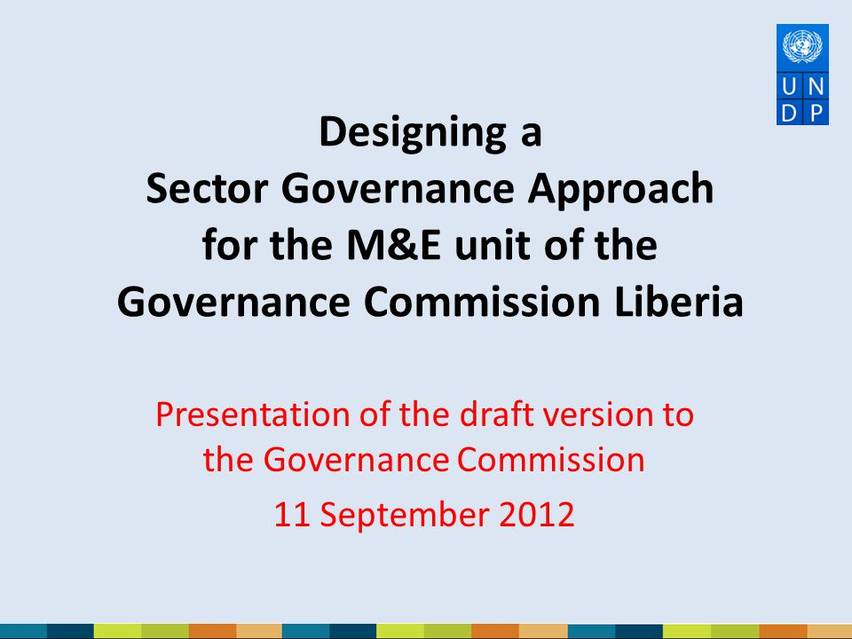 Presentation of the draft version to the Governance Commission