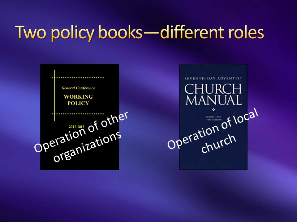 Two policy books—different roles