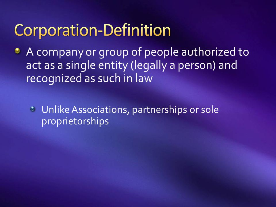 Corporation-Definition