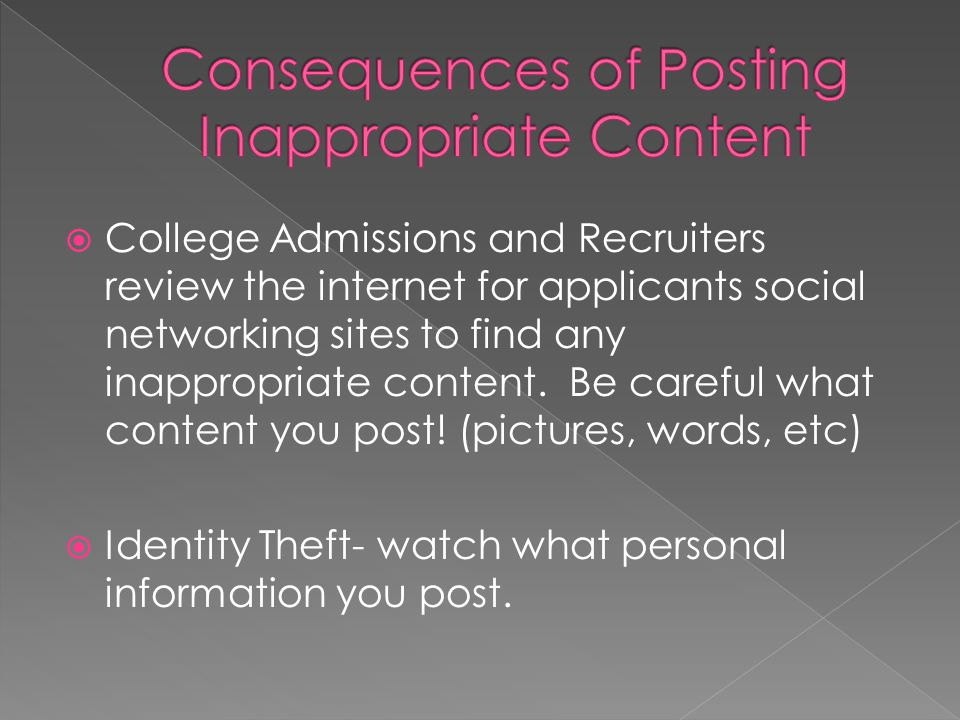 Consequences of Posting Inappropriate Content