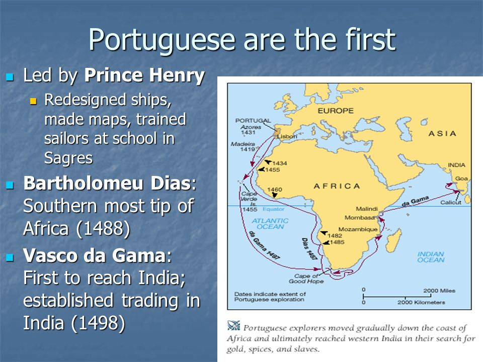 Portuguese are the first