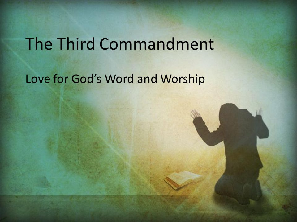 Love for God's Word and Worship