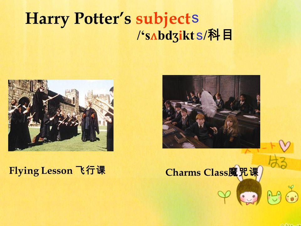 Harry Potter's subject