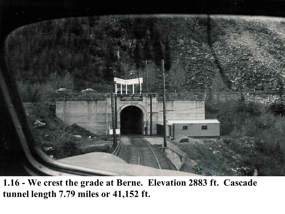 1. 16 - We crest the grade at Berne. Elevation 2883 ft