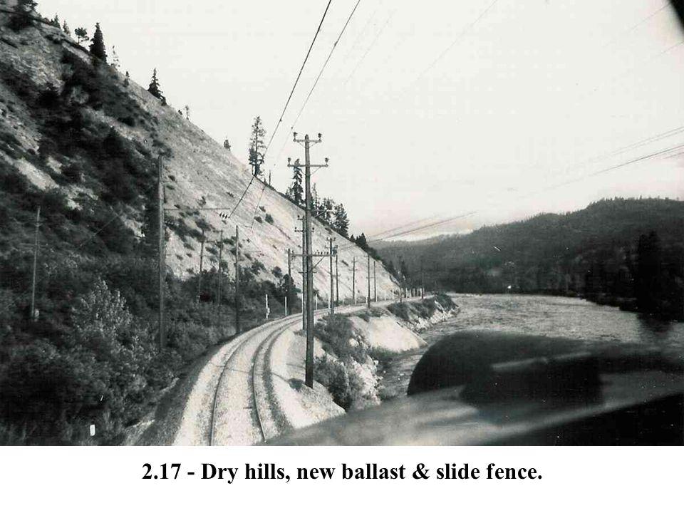 2.17 - Dry hills, new ballast & slide fence.