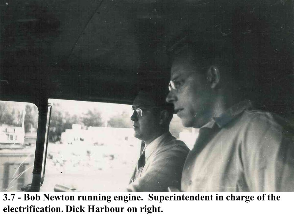 3. 7 - Bob Newton running engine