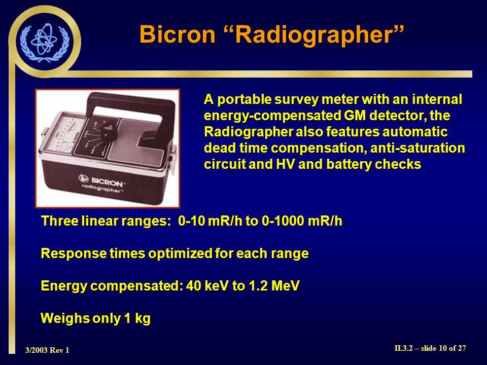 Bicron Radiographer