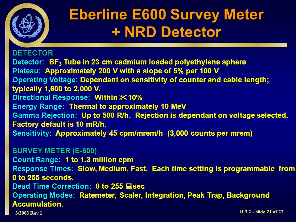 Eberline E600 Survey Meter