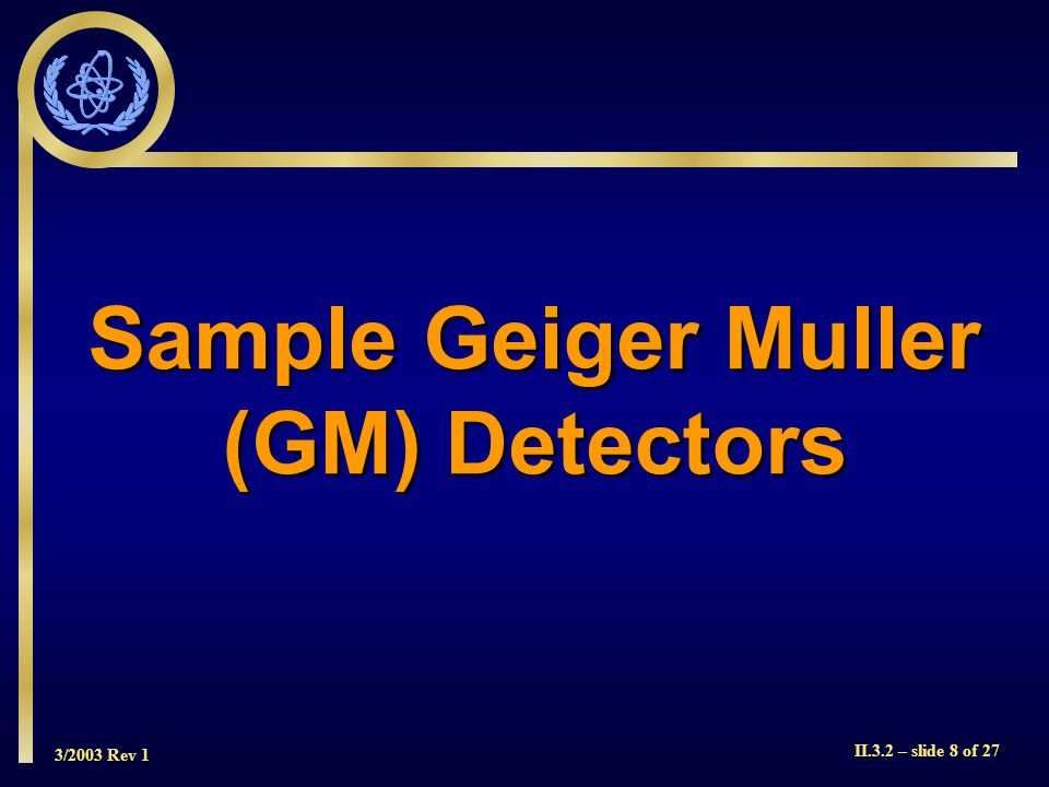 Sample Geiger Muller (GM) Detectors