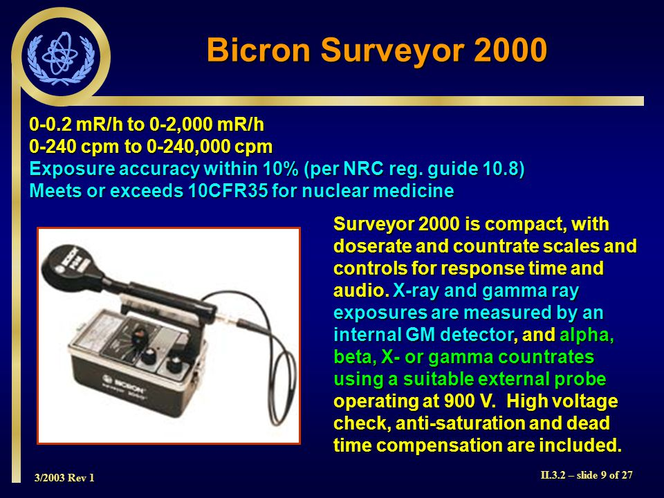 Bicron Surveyor 2000