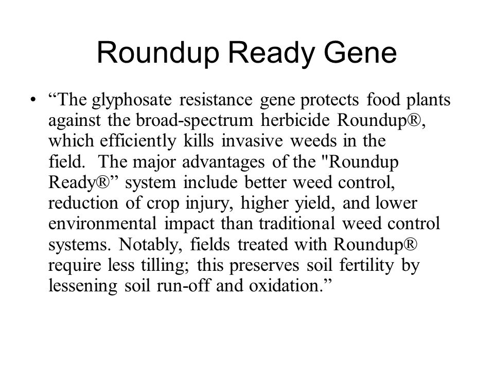 Roundup Ready Gene