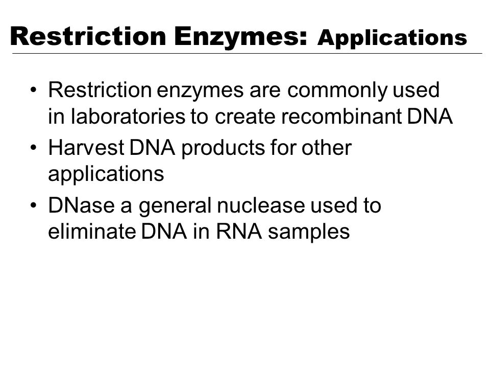 Restriction Enzymes: Applications