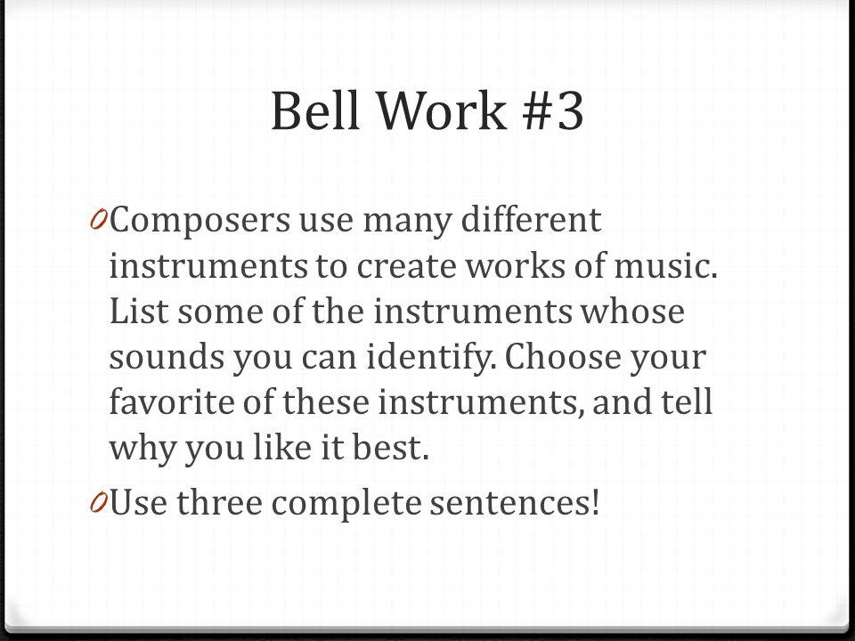 Bell Work #3