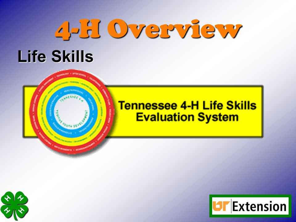 4-H Overview Life Skills
