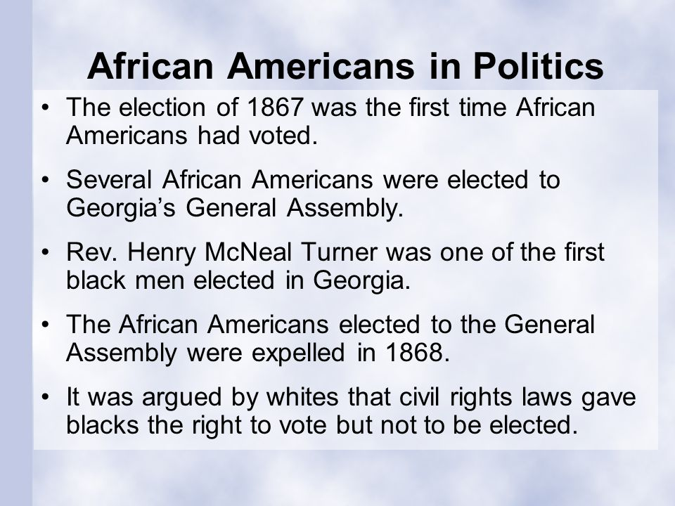 African Americans in Politics
