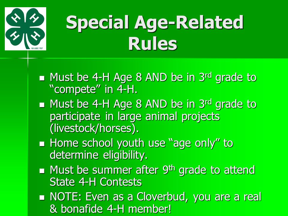 Special Age-Related Rules