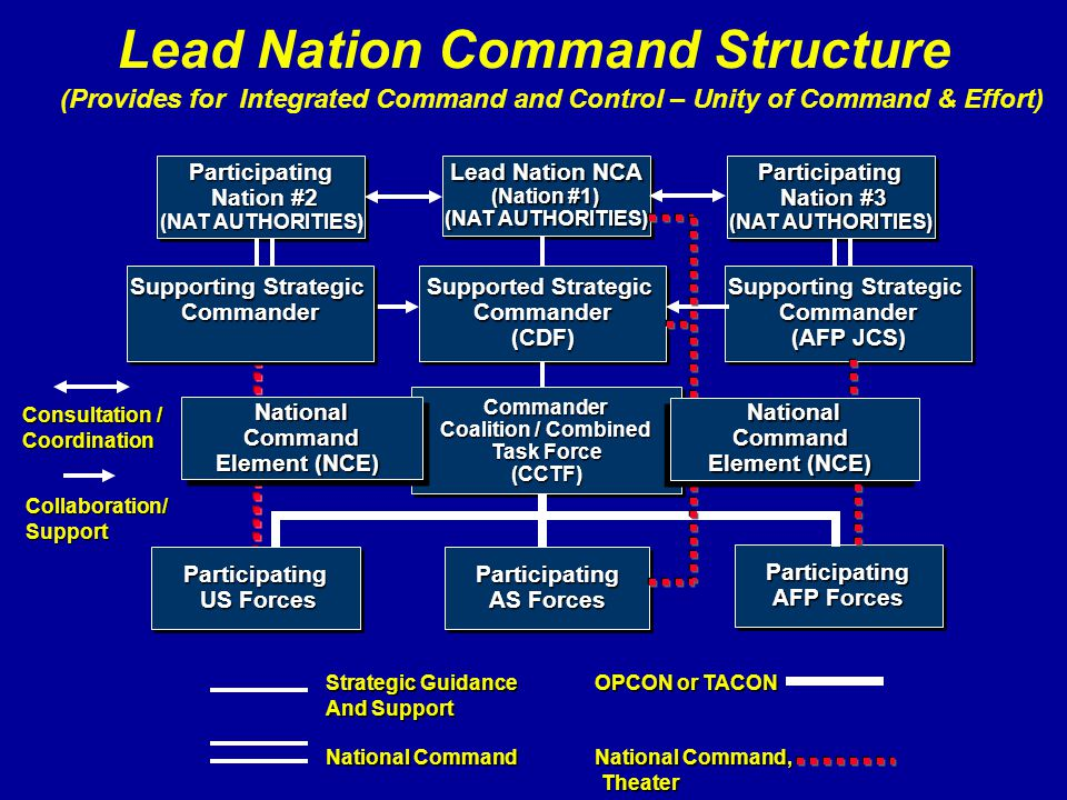Lead Nation Command Structure