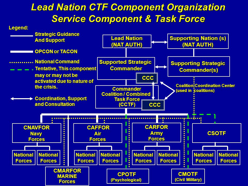 Lead Nation CTF Component Organization Service Component & Task Force