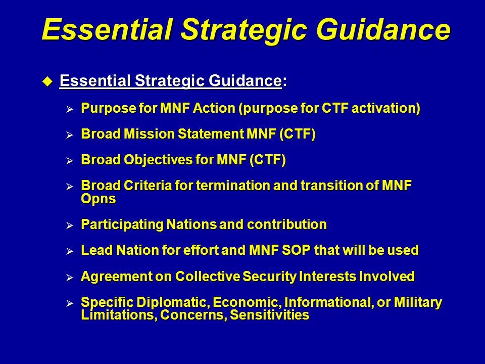 Essential Strategic Guidance