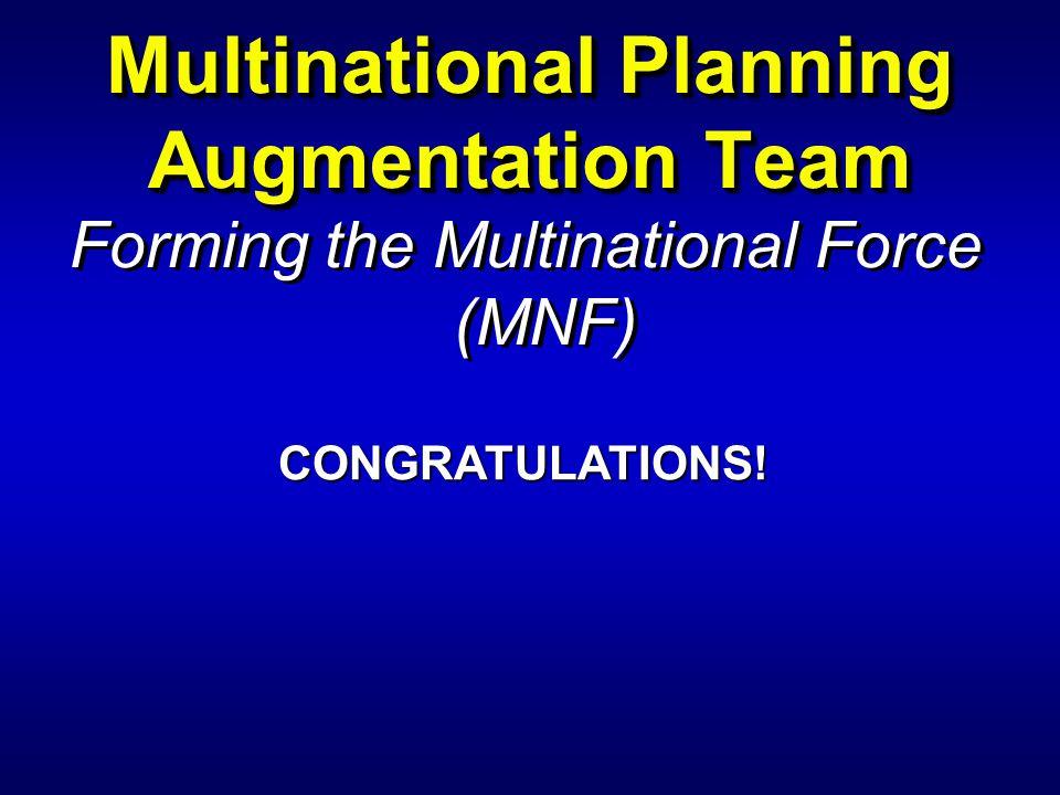 Multinational Planning Augmentation Team