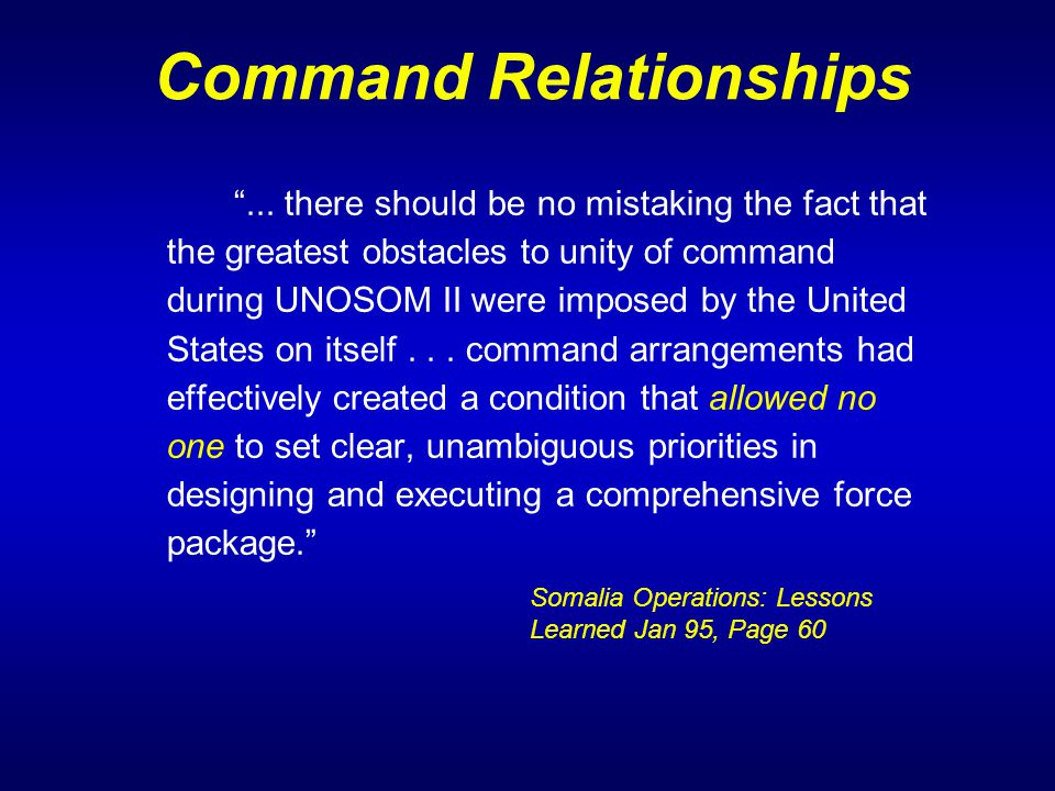 Command Relationships