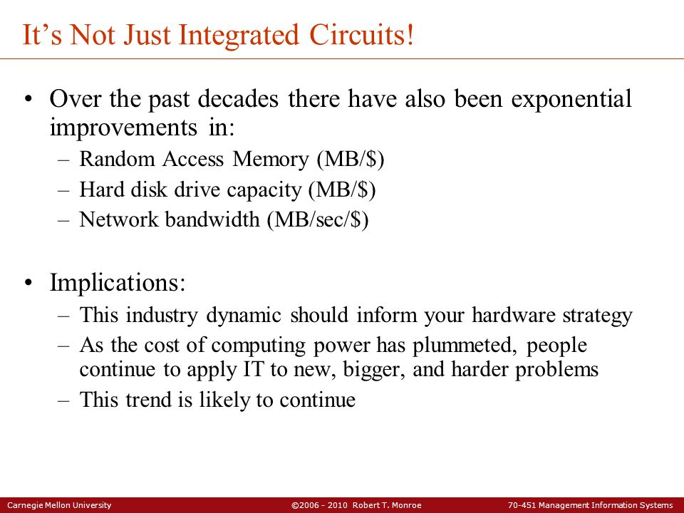 It's Not Just Integrated Circuits!