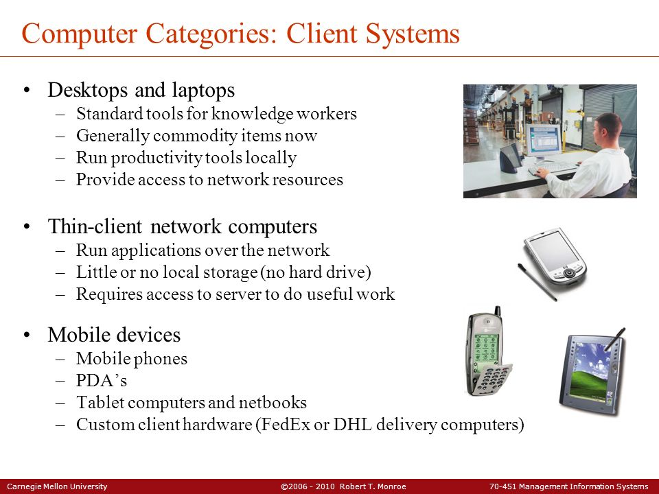 Computer Categories: Client Systems