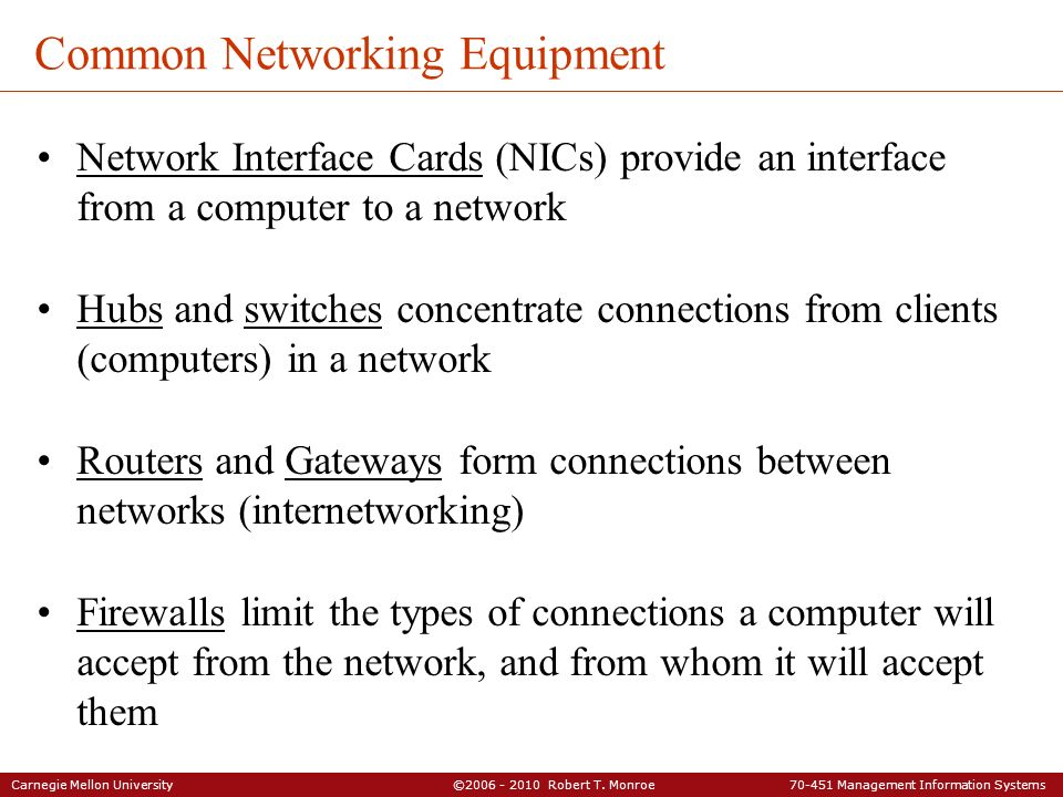 Common Networking Equipment