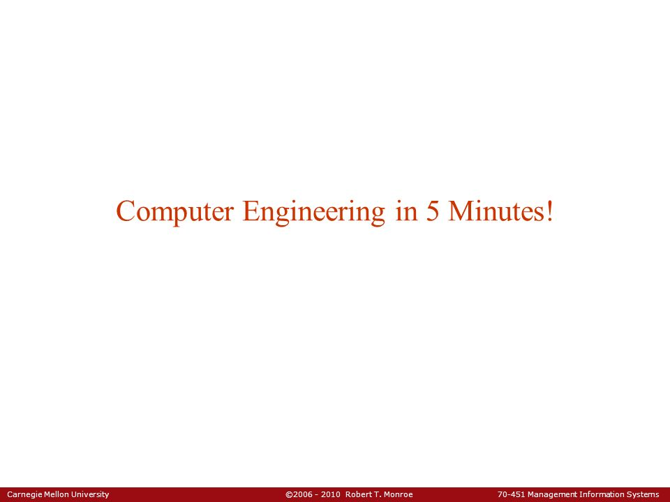 Computer Engineering in 5 Minutes!