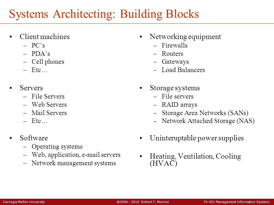 Systems Architecting: Building Blocks