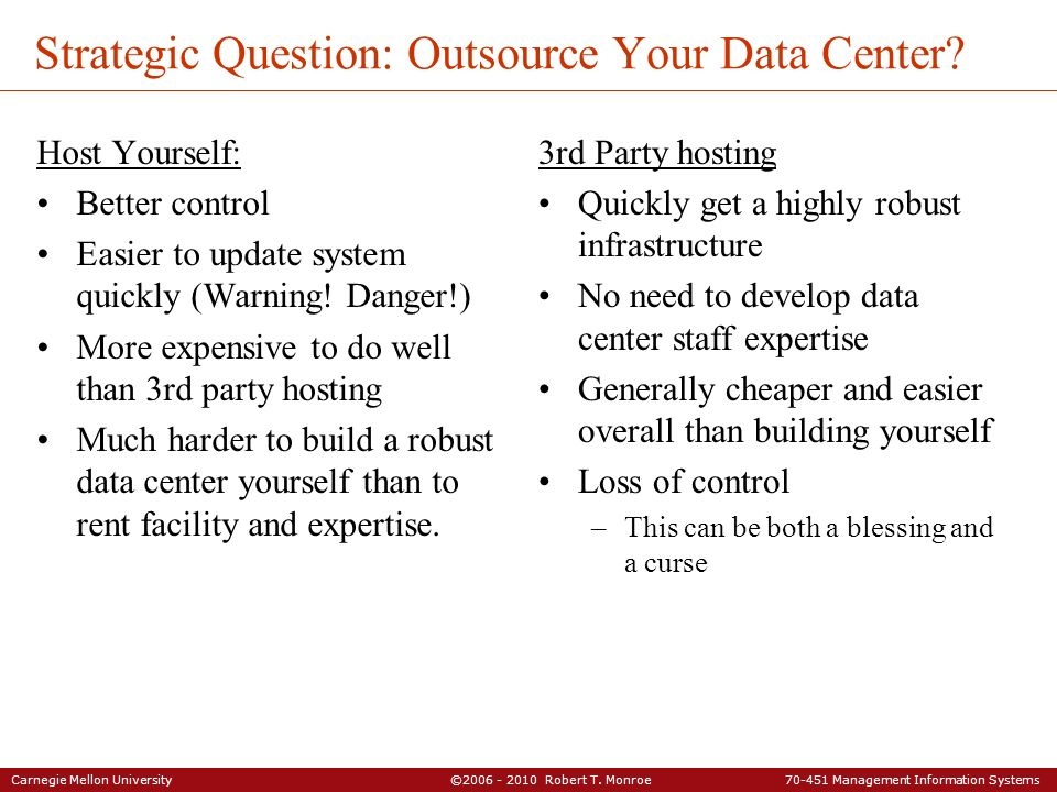 Strategic Question: Outsource Your Data Center