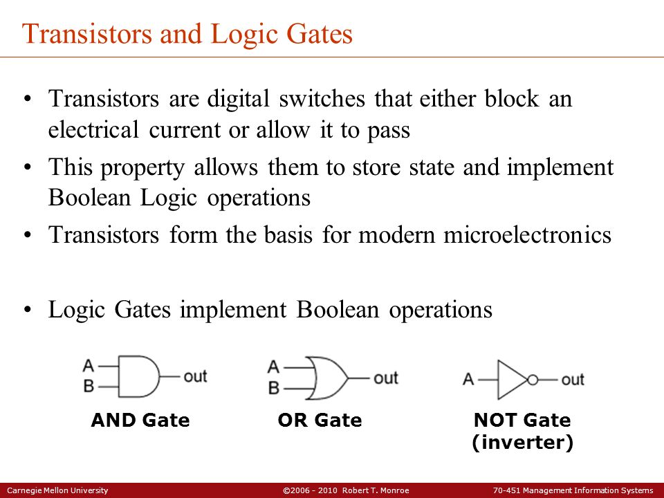 Transistors and Logic Gates