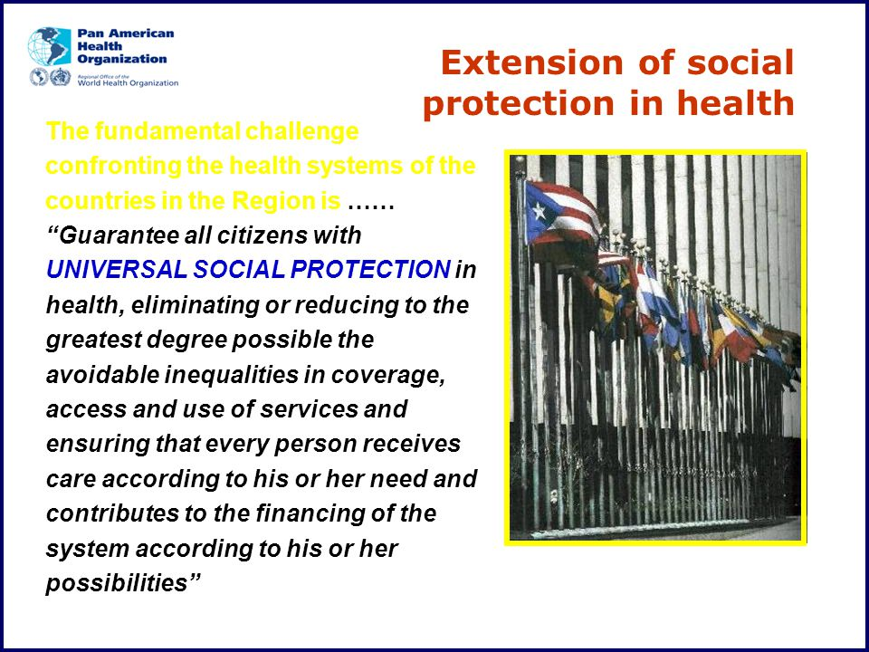Extension of social protection in health