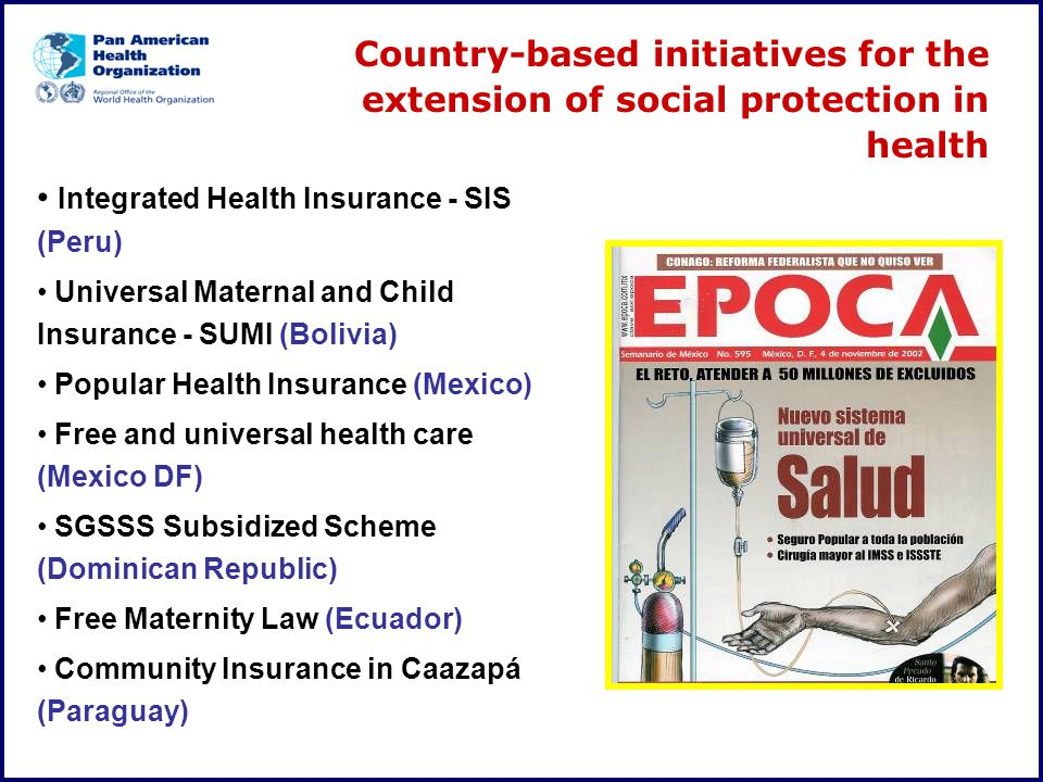 Integrated Health Insurance - SIS (Peru)