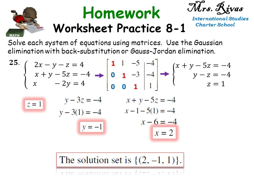Solving Systems Of Equations With Matrices Worksheet Delibertad – Systems of Equations Elimination Worksheet