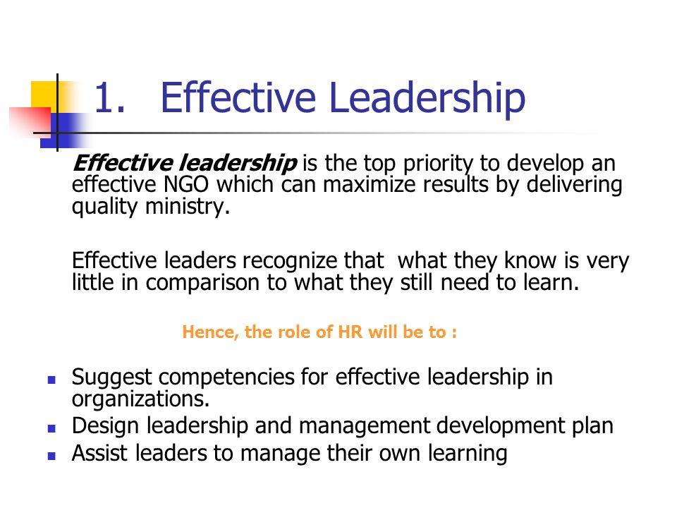 1. Effective Leadership