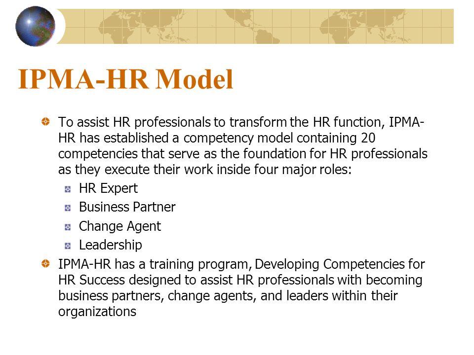 IPMA-HR Model