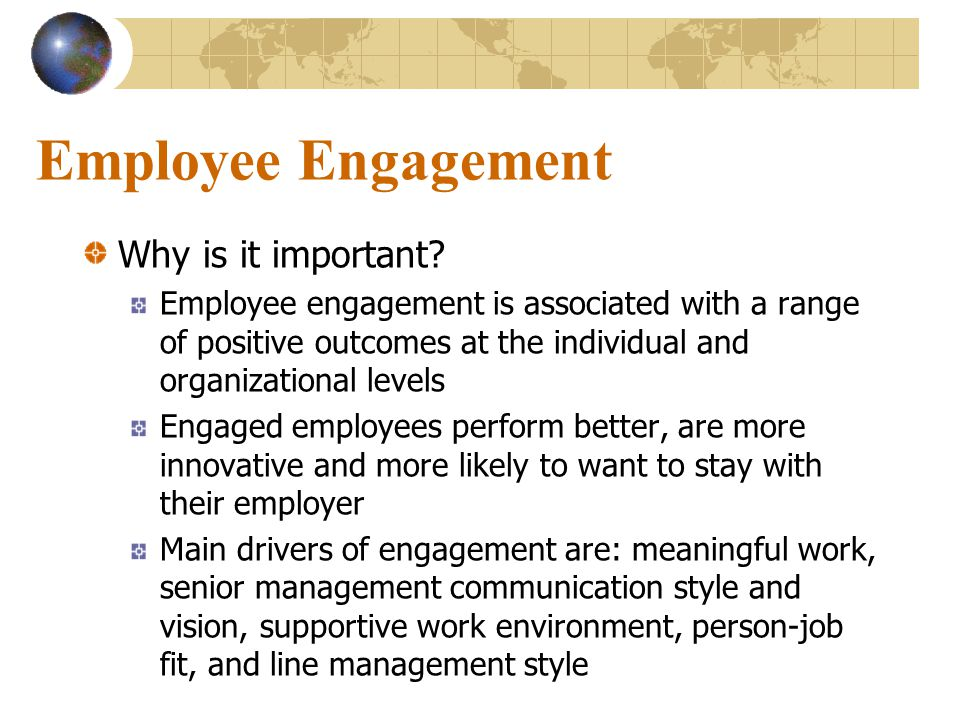 Employee Engagement Why is it important