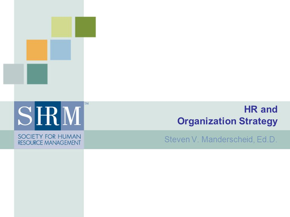 HR and Organization Strategy