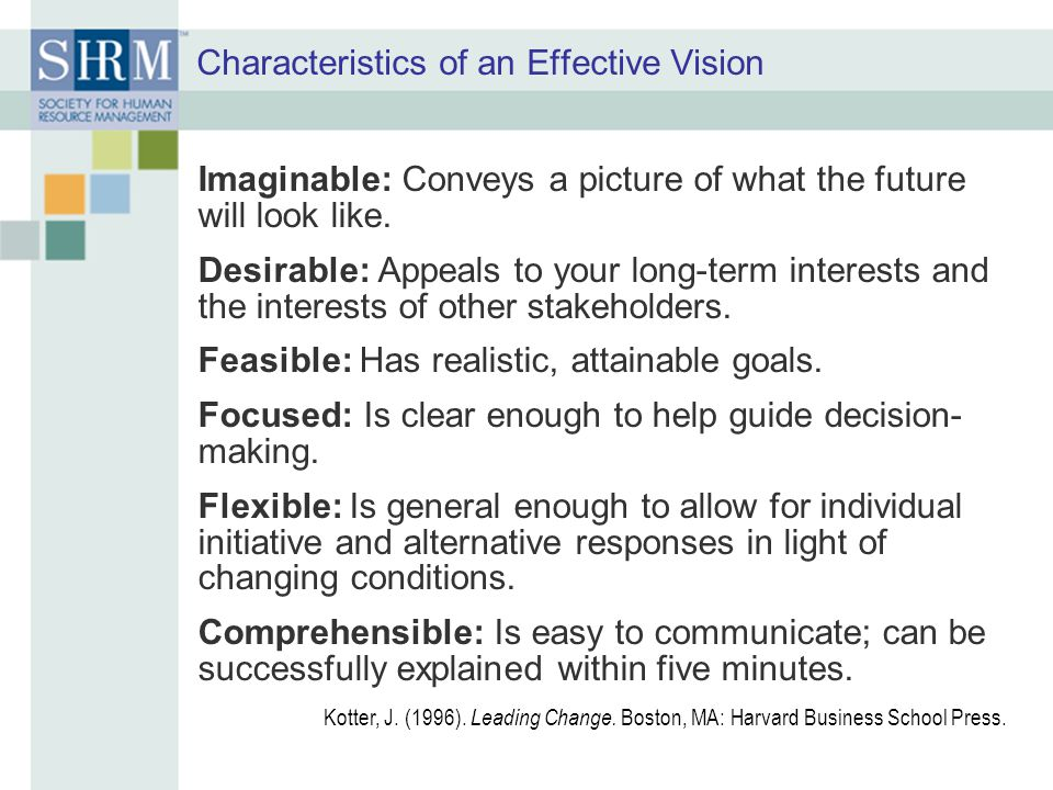 Characteristics of an Effective Vision