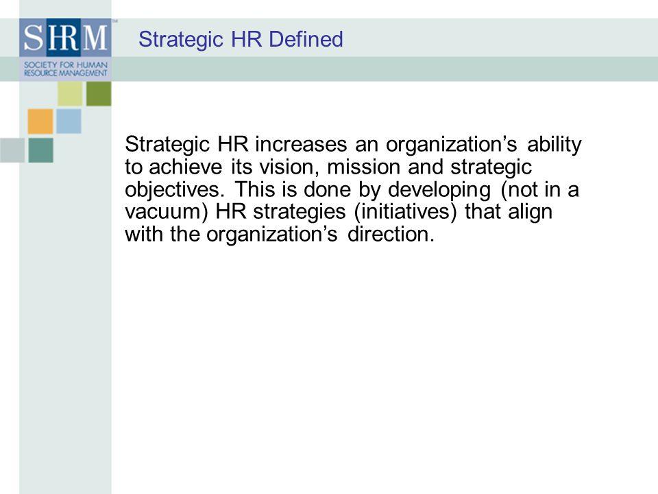 Strategic HR Defined