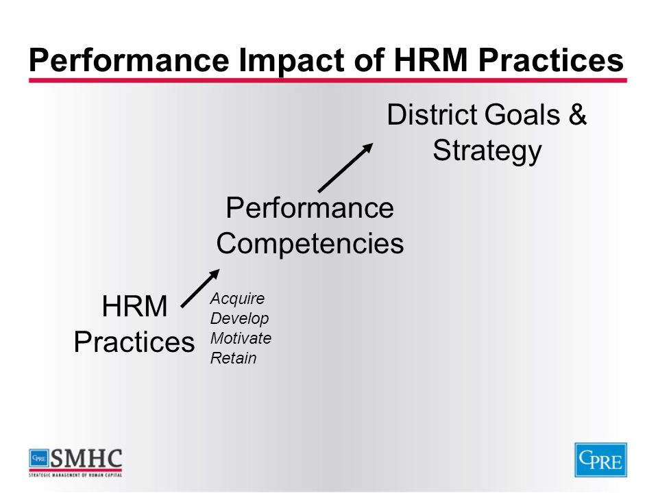 Performance Impact of HRM Practices