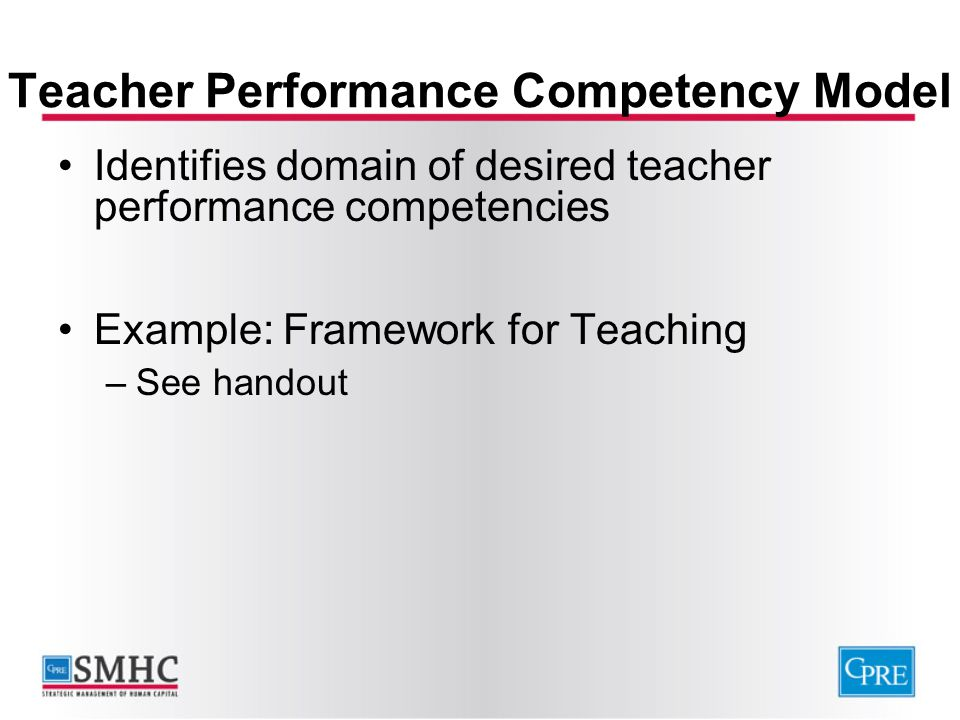 Teacher Performance Competency Model