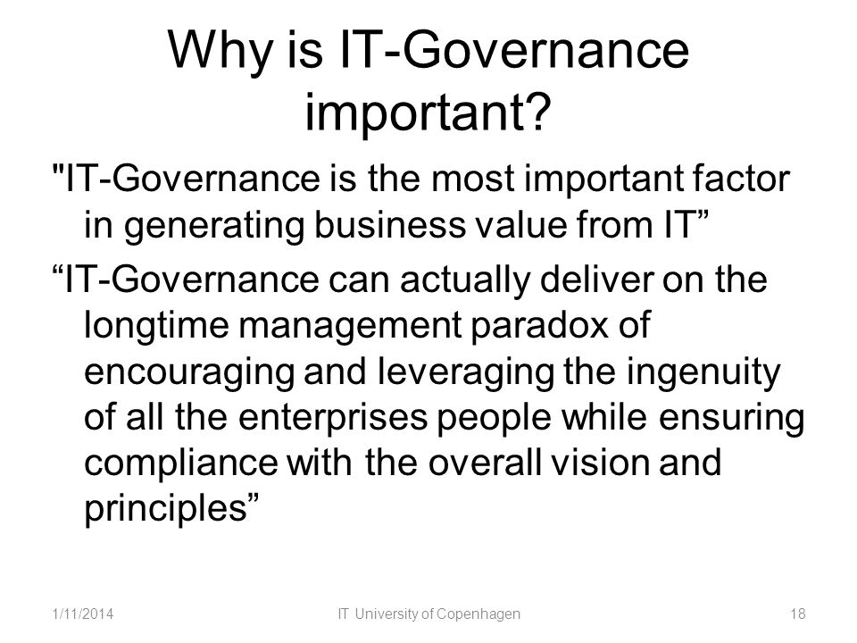 Why is IT-Governance important