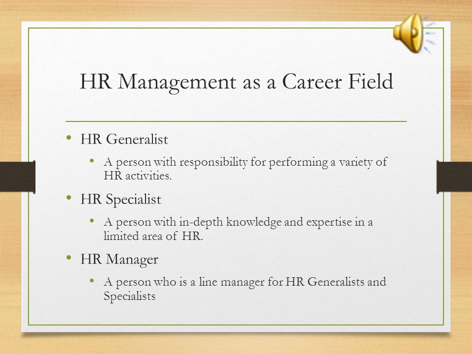 HR Management as a Career Field