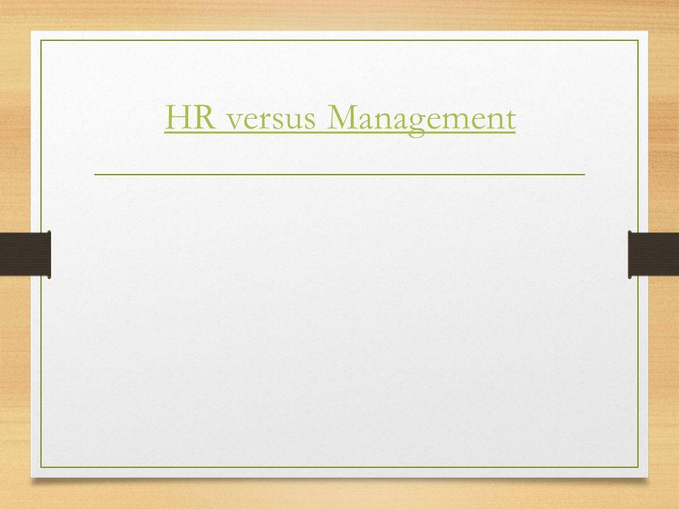 HR versus Management