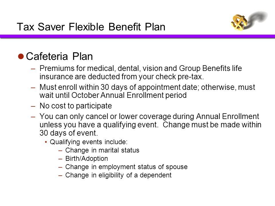 Tax Saver Flexible Benefit Plan