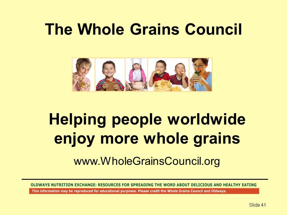 The Whole Grains Council