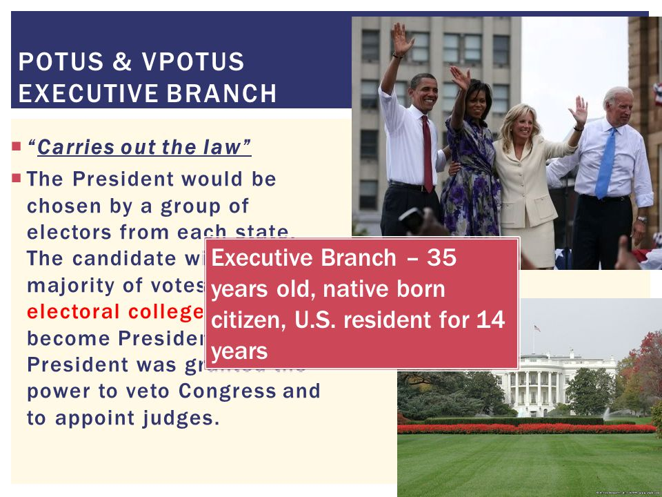 POTUS & VPOTUS Executive Branch